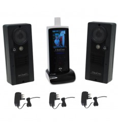 UltraCom Wireless Video Intercoms, 2 x Caller Stations (internal aerial) with Power Supplies.