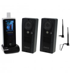 UltraCom Wireless Video Intercom with 2 x Caller Stations & Wall Mounting Aerials