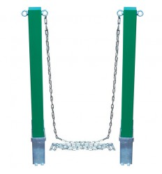 H/D Removable Green Security Bollard with Steel Chain (001-2690)