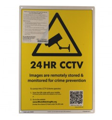 Large External CCTV A3 Warning Wall Sign