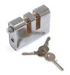 Double Slotted Armoured Steel Security Padlock