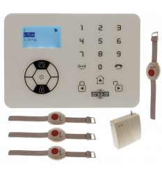 KP9 Siren Only Wireless Panic Alarm Kit D with Wristband Wireless Panic Buttons