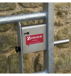 Steel Gate Zedlock  A (shown on a field gate)