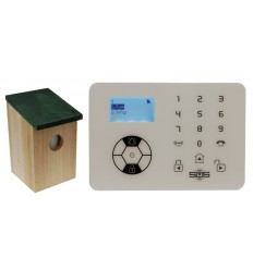 KP9 Bells Only Alarm with Outdoor Pet Friendly Bird Box PIR