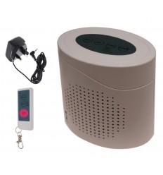 Dog Barking Alarm (A - Power Supply Socket, B - Battery Location).