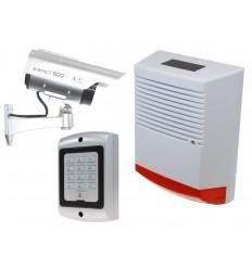 Large Solar Dummy Alarm Siren, Solar DC2 Solar CCTV Camera with Dummy Alarm Keypad.