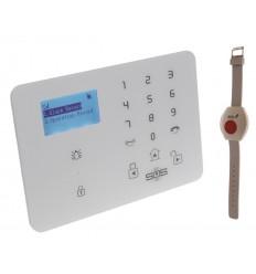 KP9 GSM Wireless Panic Alarm with Wristband Panic Buttons