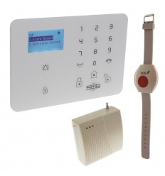 KP9 GSM Wireless Panic Alarm with Wristband Panic Button & Repeater