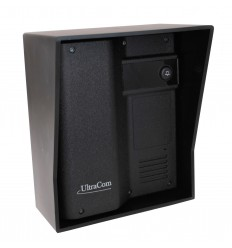 UltraCom Additional Caller Station (no keypad) with Black Outdoor Hood.