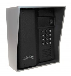 UltraCom Caller Station with Keypad & Silver Outdoor Hood.