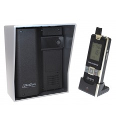 UltraCom 600 metre Wireless Intercom System (no keypad) & Silver Outdoor Hood