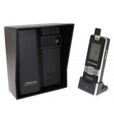 UltraCom 600 metre Wireless Intercom System (no keypad) & Black Outdoor Hood