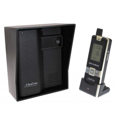600 metre Wireless UltraCom Intercom (no keypad) with Black Outdoor Hood