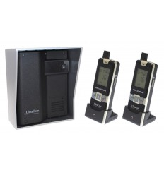 UltraCom 600 metre Wireless Intercom System (no keypad) & Silver Outdoor Hood & 2 x Handsets