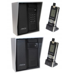 600 metre Wireless UltraCom (twin pack) Intercom with Silver Outdoor Hoods