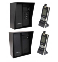 600 metre Wireless UltraCom (twin pack) Intercom with Black Outdoor Hoods