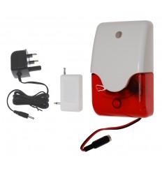 Mini Wireless Siren & Flashing Strobe