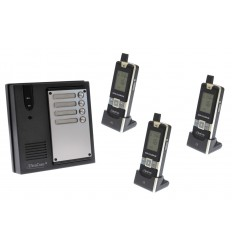 3 x Property 600 metre Wireless UltraCom Intercom System