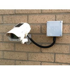 Solar Powered Dummy CCTV Camera (DC23) with Cable Management Box