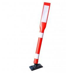 Tall Plastic Bendy Bolt Down Bollard with Reflective Stickers (001-3440)