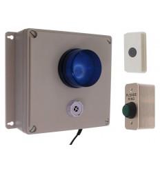 Long Range Wireless Warehouse Siren & Flashing Strobe Kit