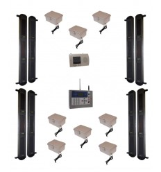 3B Comprehensive Wireless Perimeter Alarm with Rechargeable Power Packs