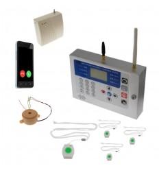 KP 400 metre GSM Staff Panic Alarm, Internal Siren & 4 x Lanyards