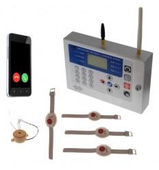 H/D KP GSM Wireless Panic Alarm, Internal Siren & 4 x Wristband Panic Buttons