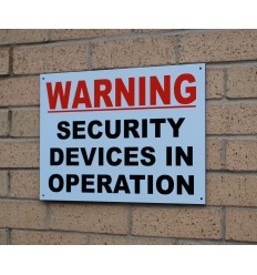 Large Heavy Duty Outdoor Security Warning Sign