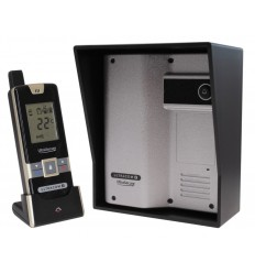 Wireless Gate & Door Intercom (UltraCom2 No keypad) Silver & Black Hood