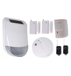 HY Solar Wireless Siren House Alarm Kit 6