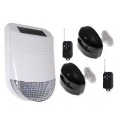 HY Outdoor Solar Wireless Siren Alarm Kit 2