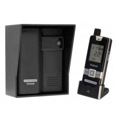 Wireless Gate & Door Intercom (UltraCom2 No Keypad) Black with Black Hood