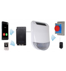 Outdoor Solar Siren Panic Alarm with Battery GSM Dialler (UltraDIAL)