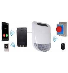 Wireless HY Yard Solar Siren Panic Alarm with Battery Auto-Dialler