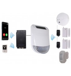 Wireless Solar Siren HY with Battery UltraDIAL GSM Dialler
