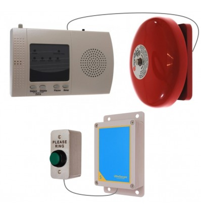 Please Ring Push Button for the Long Range (900 metre) Wireless Warehouse 'S' Bell System