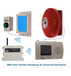 Extra Long Range (1800 metre) Warehouse Wireless 'S' Bell System