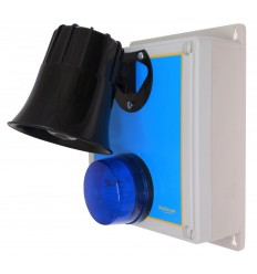Wireless Alarm 'S' Type Siren Control Panel with Latching 118 Decibel Siren & Blue Flashing LED