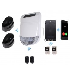 HY Outdoor Solar Wireless Siren Alarm Kit 2 with GSM Auto-Dialler