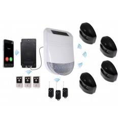 HY Outdoor Solar Wireless Siren Alarm Kit 3 & Battery GSM Auto-Dialler
