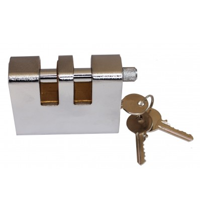Double Slotted Armoured Steel Shackle Lock
