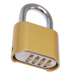 Combination Padlock Brass Weatherproof