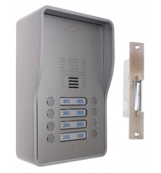 8 x Apartment 3G GSM Audio Intercom with Electric Door Latch (fail secure model)