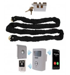 Chain, Lock & Battery 3G GSM PIR Alarm (Shed & Garage Security)