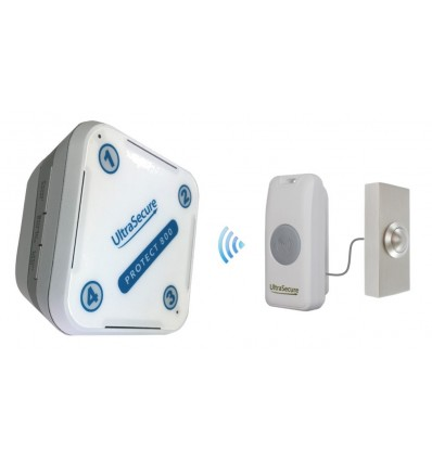 Long Range 800 metre Wireless Doorbell with Brushed Silver Push Button