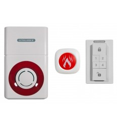 Battery Powered 3G Ultralarm with Smoke or Gas Alarm Monitor