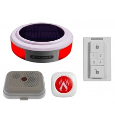Solar Powered 3G Ultralarm Smoke Alarm with Monitor