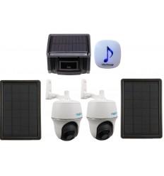 DA600 Wireless Garden & Driveway Alarm with 2 x Solar P + T Wifi Camera