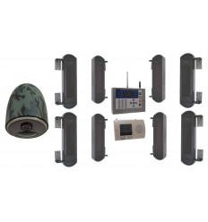 Comprehensive 1B-100 Wireless Perimeter Alarm with GSM Auto-Dialler & 4G Battery Camera